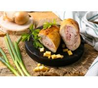 Рулет куриный с ветчиной и сыром