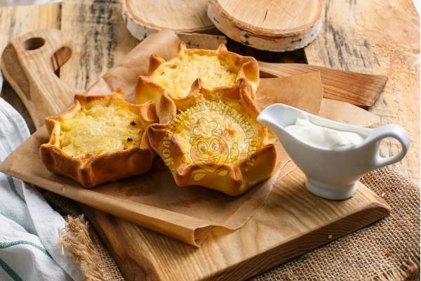 Перепечи с картофелем и грибами