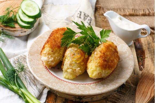 Зразы картофельные с зелёным луком